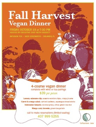Fall harvest vegan dinner menu